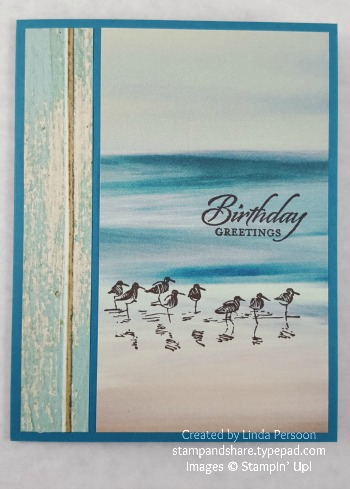 Serene Scenery Card with Wetlands by Linda Persoon stampandshare.typepad.com