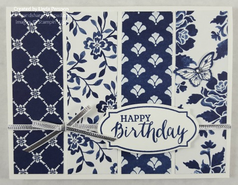 Floral Boutique Card in Night of Navy by Linda Persoon stampandshare.typepad.com