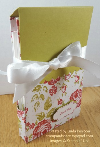 Folded DSP Notecard Gift Box by Denise Jorgensen