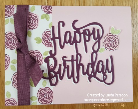 Happy Birthday Thinlits with Happy Birthday Gorgeous stamp set by Linda Persoon stampandshare.typepad.com