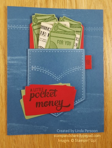 Pocketful of Sunshine Money Gift Card by Linda Persoon stampandshare.typepad.com