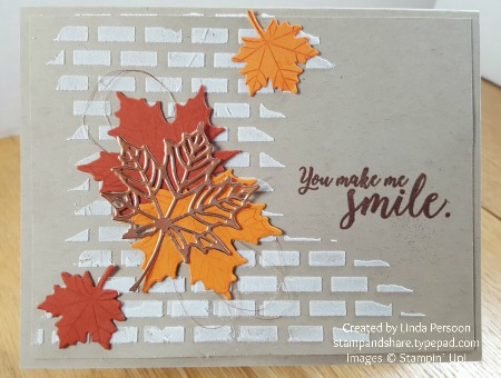 Colorful Seasons with Embossing Paste Card by Linda Persoon stampandshare.typepad.com