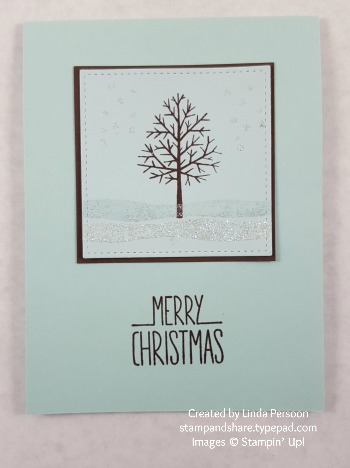 Totally Trees Winter Card by Linda Persoon stampandshare.typepad.com