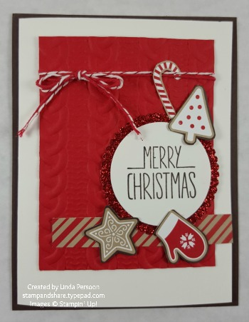 Candy Cane Lane Card by Linda Persoon stampandshare.typepad.com
