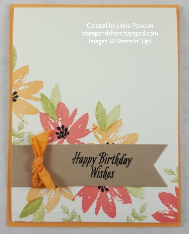 Avant Garden Birthday Card by Linda Persoon stampandshare.typepad.com