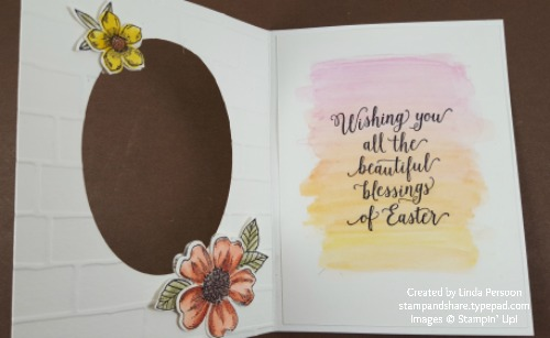 Easter Watercolor Card inside by Linda Persoon stampandshare.typepad.com