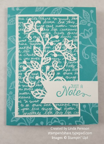 Flourishing Phrases Card with Flourish Thinlits by Linda Persoon stampandshare.typepad.com