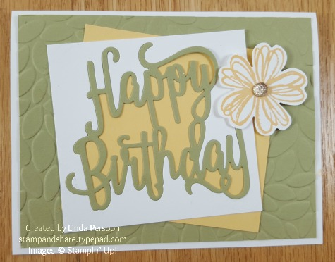 Happy Birthday Thinlit with Flower Shop by Linda Persoon stampandshare.typepad.com