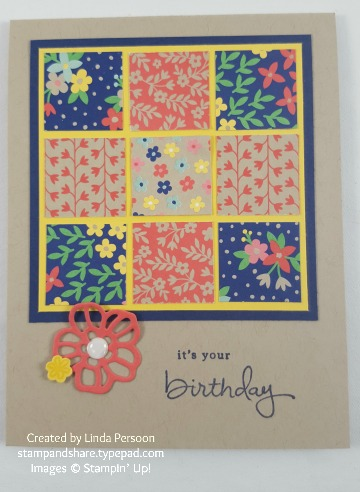 Affectionately Yours Birthday Card with white perfect accents and Endless Birthday stamp set #stampinup #imbringingbirthdaysback by Linda Persoon stampandshare.typepad.com