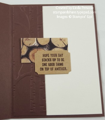 Woodland Masculine Card with Sprinkles of Life by Linda Persoon stampandshare.typepad.com #stampinup