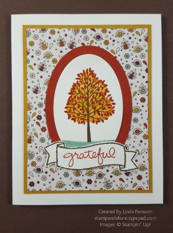 Totally Trees Grateful Card with Petals & Paisleys Specialty Designer Series Paper by Linda Persoon stampandshare.typepad.com