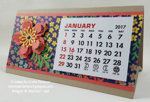 Desk Calendar 3x6 with Affectionately Yours Designer Series Paper by Linda Persoon stampandshare.typepad.com