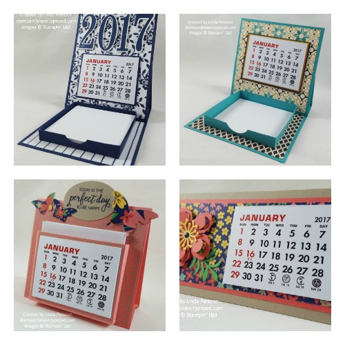 Mini Desk Calendar  Collage
