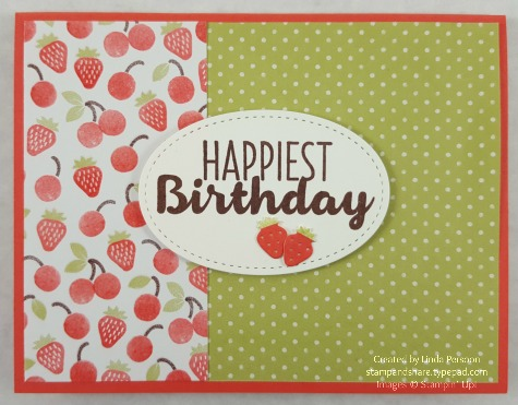 Frozen Treats Card with Tasty Treats DSP by Linda Persoon stampandshare.typepad.com