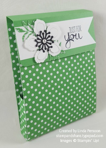 Cucumber Crush Folded DSP Gift Card Box by Linda Persoon stampandshare.typepad.com