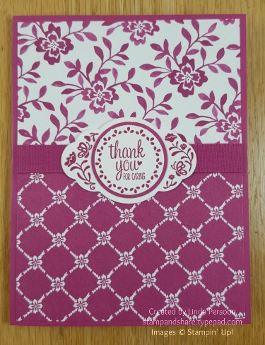 Monochromatic Fresh Florals Card with Label Me Pretty by Linda Persoon stampandshare.typepad.com