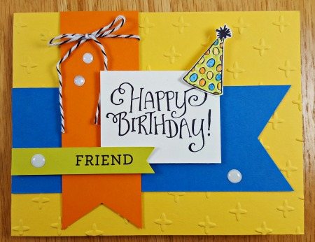 Better Together Birthday Card with Sparkle Embossing Folder by Linda Persoon stampandshare.typepad.com